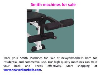 Smith machines for sale