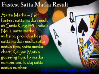 Fastest Satta Matka Result