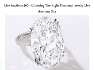 Live Auctions 360 - Choosing The Right Diamond Jewelry Live Auctions Site