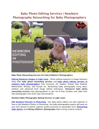 Baby Photo Retouching Services | Newborn Photography Editing Services