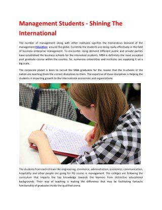 Recruiting students worldwide