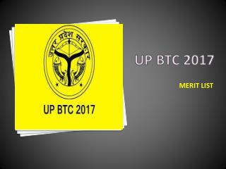 UP BTC Merit List 2017 Announced