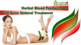 Herbal Blood Purifier Pills - Best Acne Natural Treatment