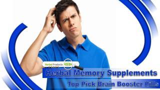 Herbal Memory Supplements, Top Pick Brain Booster Pills