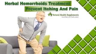 Herbal Hemorrhoids Treatment - Prevent Itching And Pain