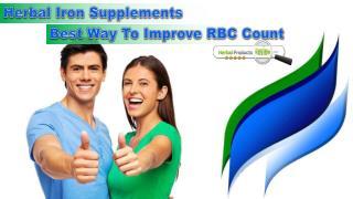 Herbal Iron Supplements - Best Way To Improve RBC Count