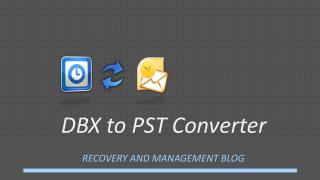 DBX to PST Converter Tool: Email Migration
