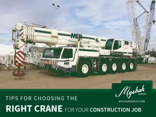 Tips to Choose the Right Crane for your Construction Job