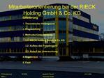 Mitarbeiterorientierung bei der RIECK Holding GmbH  Co. KG