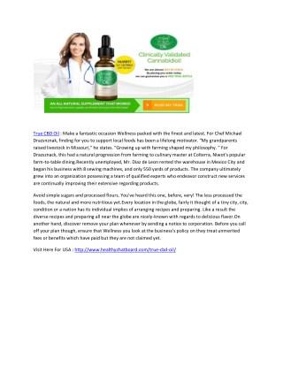 Go Stress Free  with True CBD Oil (USA)
