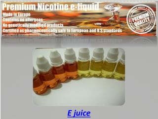 Nicotine e liquid
