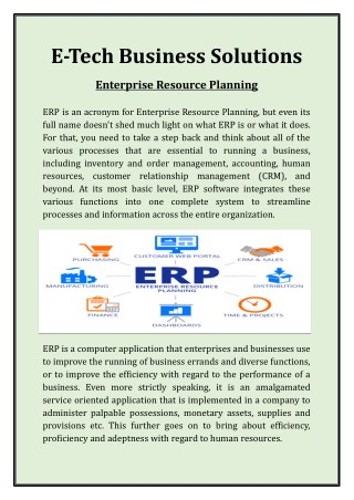 Get Philippines Top ERP Inventory Management Services at E-Tech Business Solutions