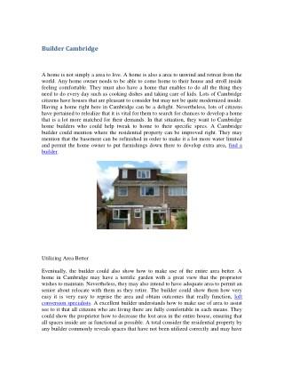 Builder Cambridge