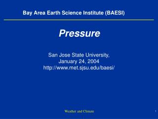 Bay Area Earth Science Institute BAESI