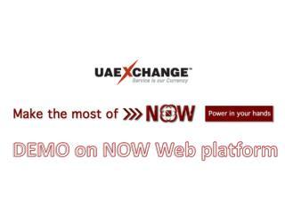 DEMO on NOW Web platform