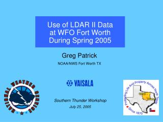 Use of LDAR II Data