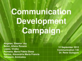 Communication Dev