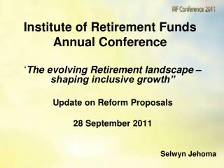 Institute of Retirement Funds Annual Conference