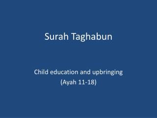 Surah Taghabun