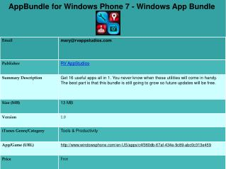 AppBundle for Windows Phone 7 - Windows App Bundle