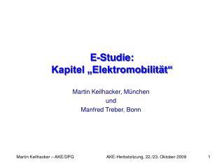 E-Studie: Kapitel  Elektromobilit t