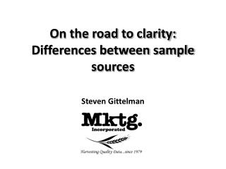 On the road to clarity: Differences between sample sources