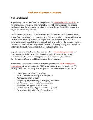 Web Development Comapny