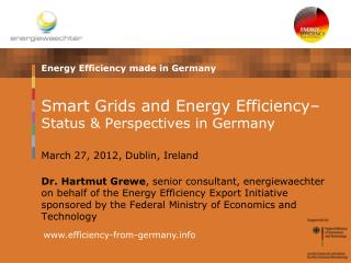 Smart Grids and Energy Efficiency  Status  Perspectives in Germany