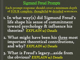 Sigmund Freud Prompts