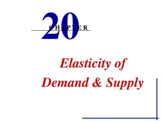 Elasticity of  Demand  Supply