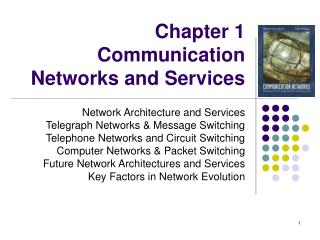 Chapter 1 Communication Networks and Services