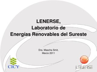 LENERSE,  Laboratorio de  Energ as Renovables del Sureste