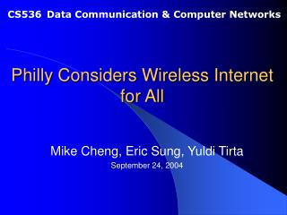 Philly Considers Wireless Internet for All