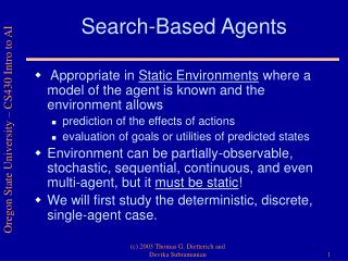 Search-Based Agents