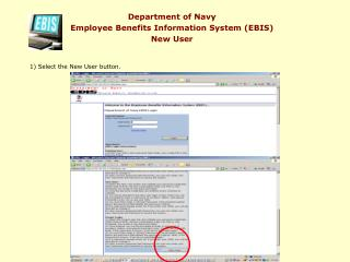 Department of Navy Employee Benefits Information System EBIS New User