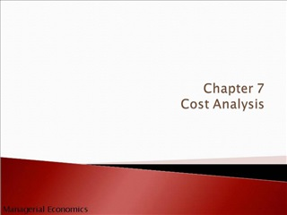 Chapter 7 Cost Analysis