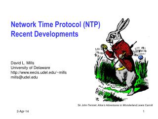 Network Time Protocol NTP Recent Developments