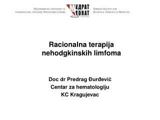 Racionalna terapija  nehodgkinskih limfoma
