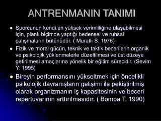 ANTRENMANIN TANIMI
