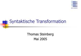 Syntaktische Transformation