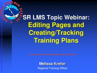 SR LMS Topic Webinar: Editing Pages and Creating