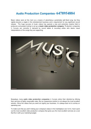 musical production companies- 6478954884