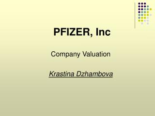 PFIZER, Inc