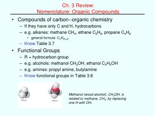 Ch. 3 Review:  Nomenclature: Organic Compounds