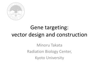 Gene targeting:  vector design and construction