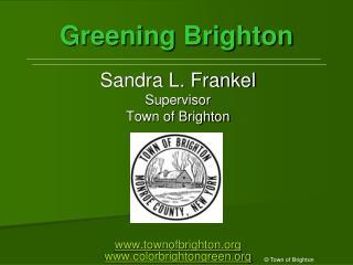 Greening Brighton