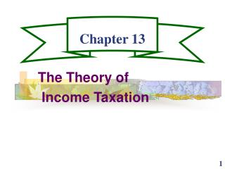 The Theory of  Income Taxation