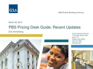 PBS Pricing Desk Guide: Recent Updates
