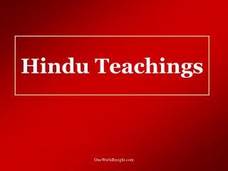 Hindu Teachings