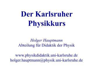 Der Karlsruher Physikkurs